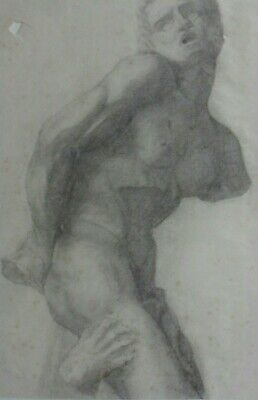 Fine Original 18Th/19Th Century Male Figure Study In Classical Old Master Style
