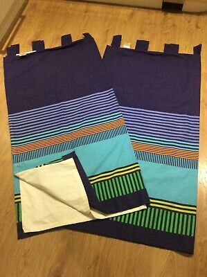 Next Pair of Boys Dark Blue Blackout Bedroom Curtains - excellent condition