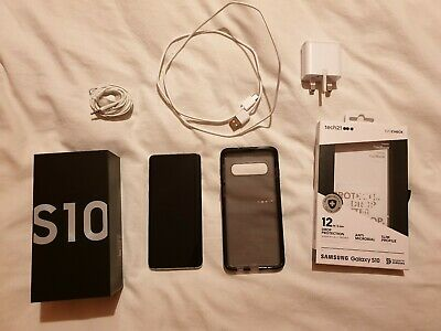 Samsung Galaxy S10 SM-G973 - 128GB - Prism White (Unlocked) (Single SIM)