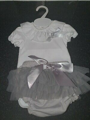 Baby Girl Spanish Style frilly Set 0-3 months