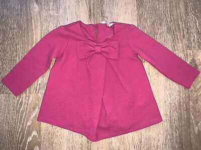 Baker by Ted Baker Age 2-3 Pink Girls top / Dress with bow - Argyle Diamond