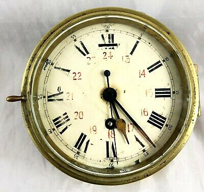 Antique Brass Ships Clock *** Coventry Astral***