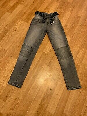 Boys Black Skinny Adjustable Waist Jeans From Next Size 11 Years 146 Cm