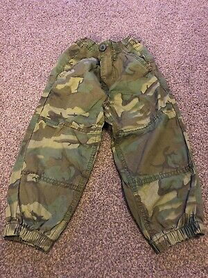Boys Army Print Combat Trousers Age 3