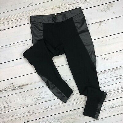 Finn & Clover Faux Leather Legging Pants Size Small Womens Back Zip Skinny P4814