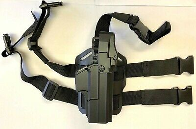 Level III Duty OWB Holster with Thigh rig /Drop leg platform for Glock 17,22,31