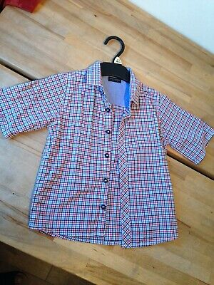 Next Checked Shirt Toddlers Boys 2-3 years 100% Cotton New without Tags