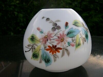 Spare Hand Painted Opaline Glass Shade For English Duplex Kerosene Oil Lamp