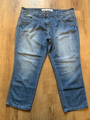 Lovely Ladies Blue Crop Jeans - NEXT - Size 18