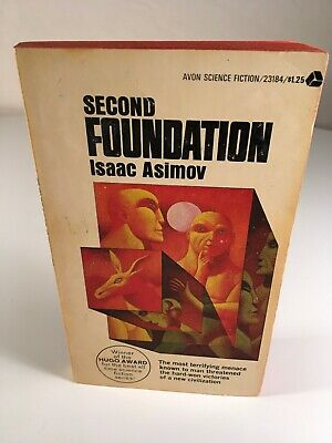 Isaac Asimov SECOND FOUNDATION Vintage Paperback Science Fiction Avon 1964