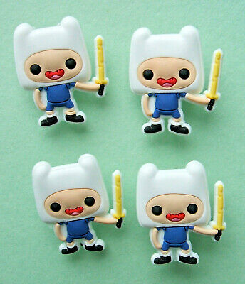 SHOE CHARMS (L5) - inspired by CUTE ADVENTURE CHARACTERS (4H) Pack of 4