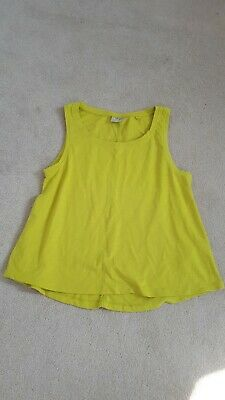 Girls Mustard Vest Top From Next - Size 11 Years