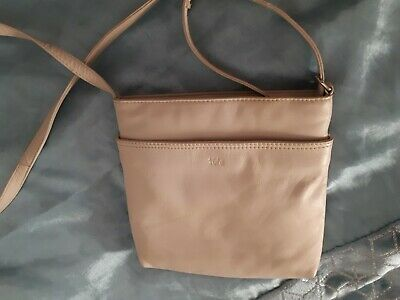 🌈TULA by RADLEY Hand Bag Small Crossbody Bag Beige Leather