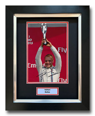 Valtteri Bottas Hand Signed Framed Photo Display - Formula 1 Autograph F1.