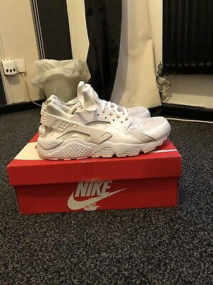 Mens white nike huarache trainers uk size 9