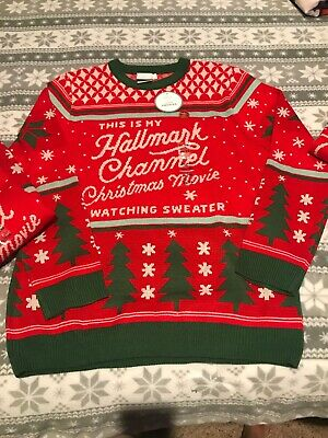 Hallmark Channel Christmas Movie Watching Ugly Sweater XL Or XXL Unisex