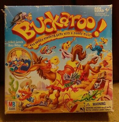 Buckaroo! The Saddle Stacking Game with a Moody Mule! Hasbro MB Family Game