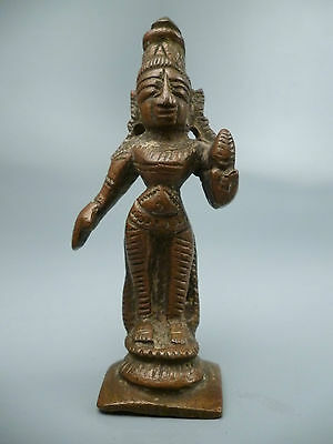 Antique Indian Bronze Statuette  Hindu Goddess - Mother of Krishna Yoshoda #1 BR