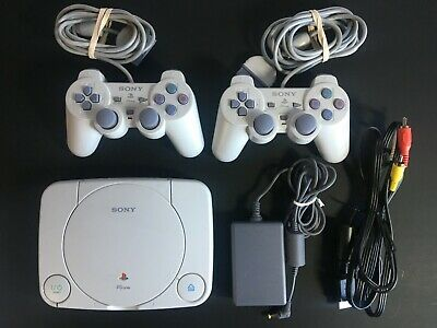 Sony Playstation 1 PS1 SCPH-101 Console Video Game System w/ 2 CONTROLLERS