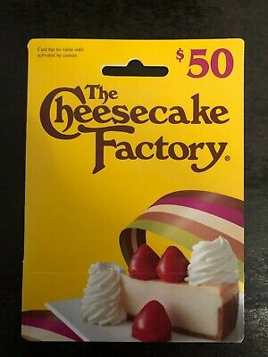 One (1) Cheesecake Factory Gift Card ~  50$ Value ~ Never Expires!