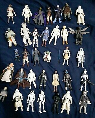 Star wars The Clone Wars And More Action Figure Lot 34 Figures