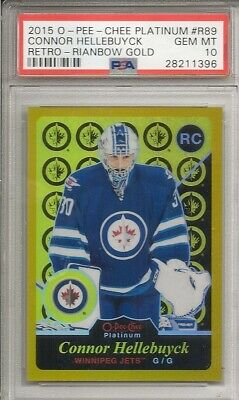 2015/16 O-Pee-Chee OPC Marquee Hellebuyck Rainbow GOLD RC Rookie PSA 10!!!