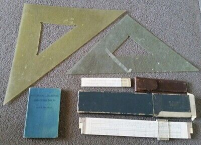 Two Vintage Sun HEMMI Bamboo Slide Rules - No. 259D & No. 34RK