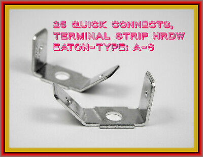 "Quick Connect Terminal Strip Hardware, Type ""A6,"" 25 Pieces, Great Connector"