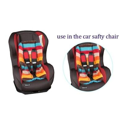 Baby Stroller Seat Cushion Cotton Soft Pushchair Pad Multicolor Double-sided Use