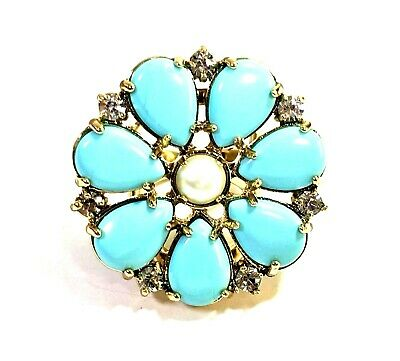 Kate Spade Azure Allure Ring NWT Gorgeous French Riviera Hues! Size 6 SOLD  OUT!