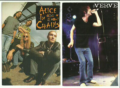 "Two Postcards - Music, Music Groups - ""Alice in Chains"" & ""Verve"""