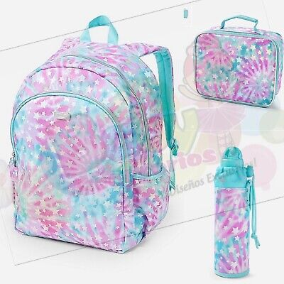 """Nwt Justice Geo Tie Dye Initial /""""C"""" Backpack /& Lunch Tote Back To School!"""