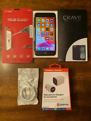 iPhone 8 Plus 64GB Space Gray (AT&T) GSM, New Battery, Bundle, Great Condition