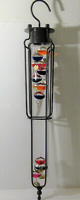 "Large 22"" Galileo Hanging ! Thermometer Bubble floating ball Vtg Industrial age"
