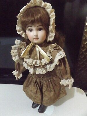 "Kathy Lovely 18"" Vintage Porcelain Doll Nice To Add To Any Doll Collection."