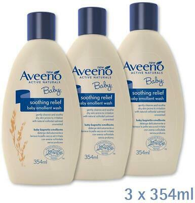 AVEENO Baby Soothing Relief Emollient Wash Gently Cleanses And Soothes Brandnew