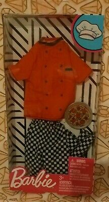 2018 Barbie Ken Doll Complete Look Fashion Pack Career Pizza Chef Outfit