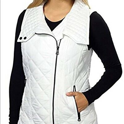 NEW WOMENS MARC NEW YORK ANDREW MARC QUILTED VEST ASYMMETRICAL ZIP VARIETY!