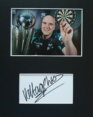 PDC Darts, Rob 'Voltage' Cross', hand signed in person mounted autograph.