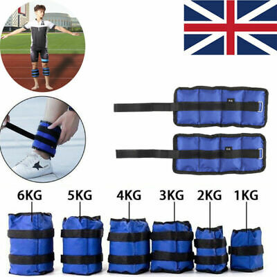 Ankle Weights Adjust Leg Wrist Strap Running Training Fitness Gym Straps 1-6KG U
