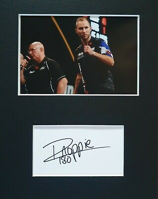 BDO Darts, Danny 'Noppie' Noppert, hand signed in person mounted autograph.