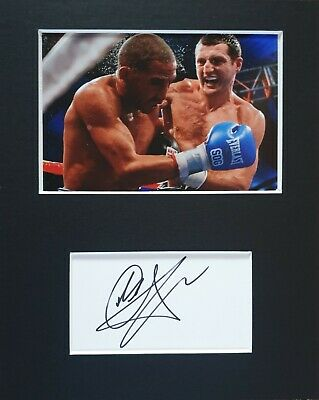 Carl 'The Cobra' Froch MBE, hand signed in person mounted autograph.