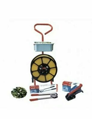 Hand Pallet  Strapping Banding Kit Metal Seals - Coil - Tools - Mobile Trolley