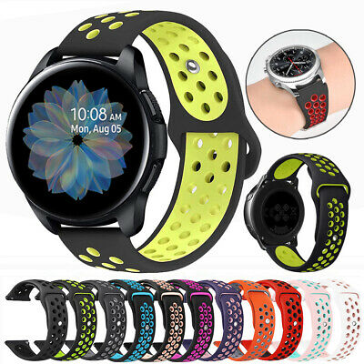 For Samsung Galaxy Watch 46mm Active2 40/44mm Silicone Sport Bracelet Band Strap
