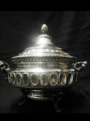 Antike Zuckerdose-versilbert-Portugal-TOPAZIO-antique silver plated sugar pot