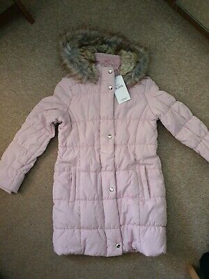 Marks and Spencer Kids Girls Padded School Coat with Stormwear new Pink 9-10 y