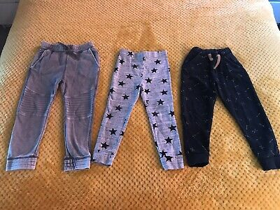 3 Pairs Of Leggings / Joggers Next H&M Boys / Girls Age 3-4 Years