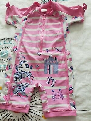 All In One Girls Swimsuit Minnie Mouse
