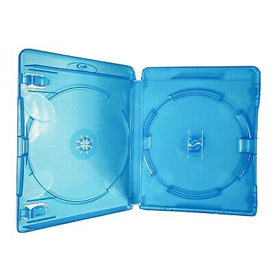 1x Double Standard Blu-ray Disc Empty Blue Case (14mm Spine) - New & Unused