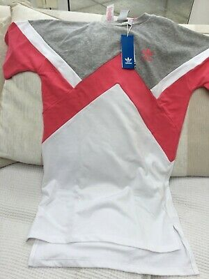 Adidas Girls Age 14/15 Sports Dress. Ideal For Tennis. Grey/Pink/White. 'New'